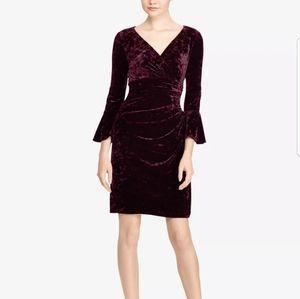 Ralph Lauren Velvet Bell Sleeve Cocktail Dress